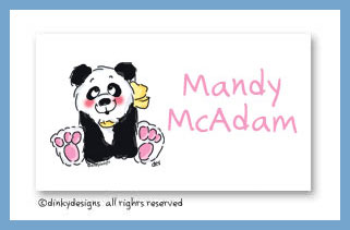Polly panda calling cards, personalized
