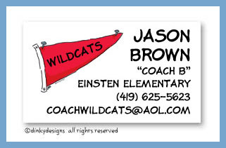 Boys toys calling cards, personalized