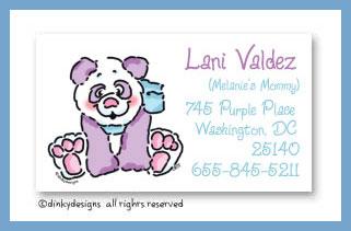Gigi panda calling cards, personalized