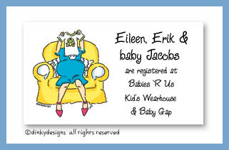Dinky Designs Stationery Discounted - Great expectations calling cards, personalized