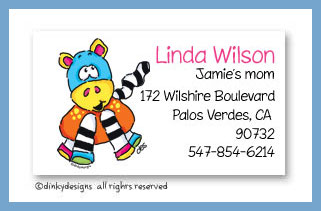 Zoe zoodle calling cards, personalized