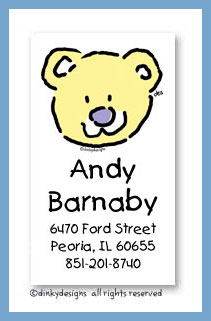 Bear calling cards, personalized