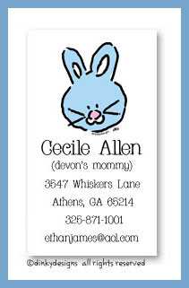 Bunny calling cards, personalized