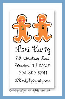 Gingerbread calling cards, personalized