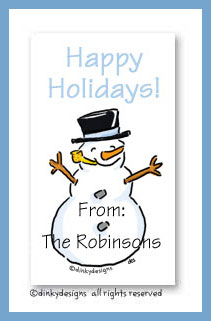 Snowman calling cards, personalized