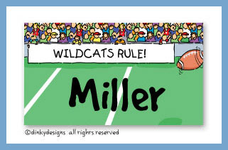 Football fans calling cards on pre-printed cardstock, personalized