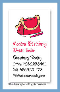 Dinky Designs Stationery Discounted - Caf? purse calling cards, personalized