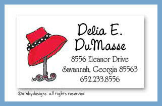 Red hat calling cards, personalized