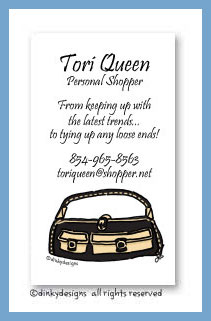 Black & tan pocketbook calling cards, personalized