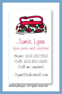 Roses are red pocketbook calling cards, personalized