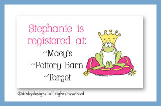 Frog prince calling cards, personalized