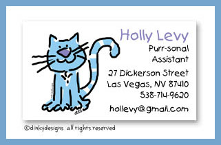 Luna who is allergic to tuna calling cards, personalized