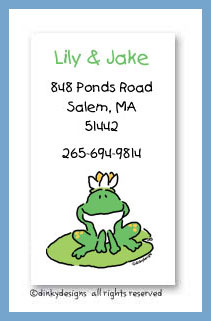 Garret the frog calling cards, personalized