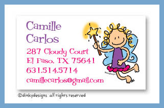 Fairy jane calling cards, personalized