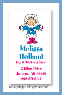 Eskimo jane calling cards, personalized