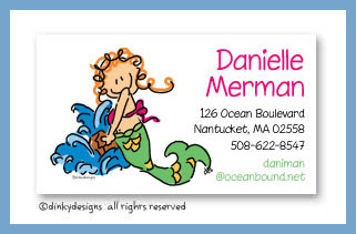 Merjane calling cards, personalized