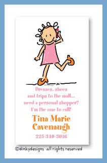 Call me jane calling cards, personalized