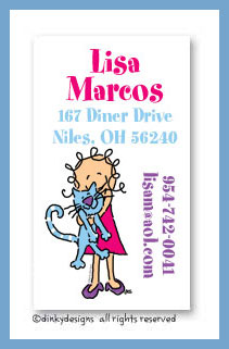 Luna and jane calling cards, personalized