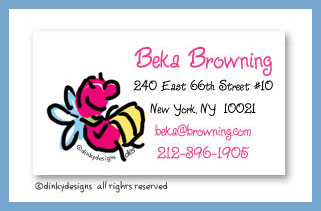 Lucy the lightning bug calling cards, personalized