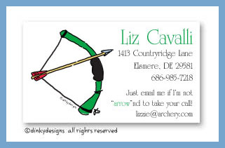 Bow & arrow calling cards, personalized