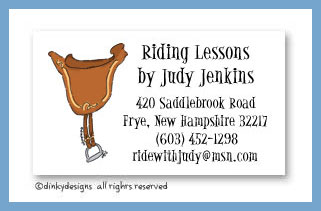 Giddy-up calling cards, personalized