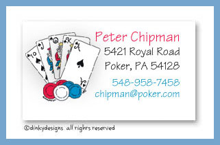 Texas hold 'em calling cards, personalized
