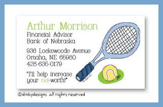 Tennis, anyone? calling cards, personalized