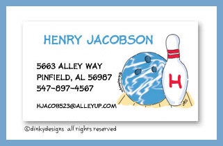 Up your alley calling cards, personalized