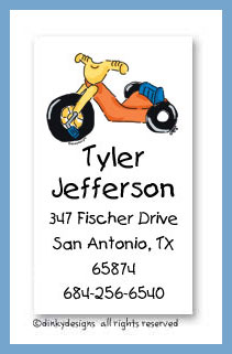 Big wheel calling cards, personalized