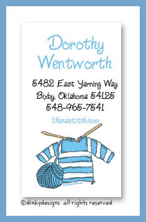 Knit wit calling cards, personalized
