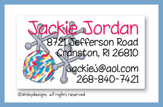 Jacks calling cards, personalized