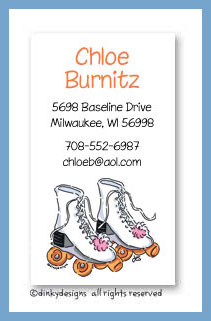 Roller girl calling cards, personalized