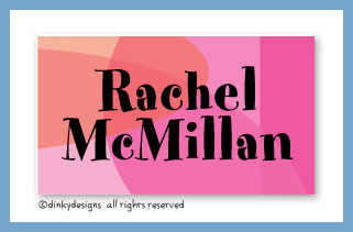 Rosey posey calling cards on pre-printed cardstock, personalized
