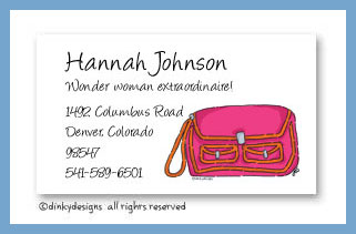 Sorbet satchel calling cards, personalized