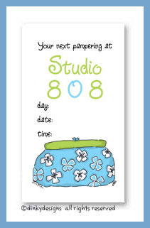Summer clutch calling cards, personalized