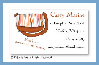 Carmel stripes calling cards, personalized