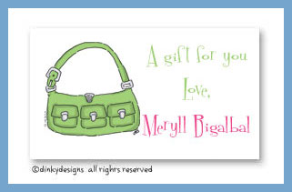Key lime karry all calling cards, personalized