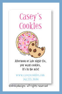 Cookies, sprinkle & chip calling cards, personalized
