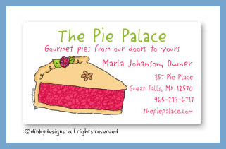 Berry pie calling cards, personalized
