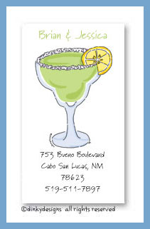 Margarita with salt calling cards, personalized