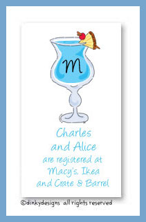 Blue Hawaiian calling cards, personalized
