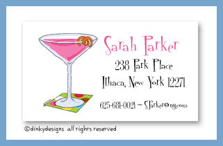 Cosmopolitan twist calling cards, personalized