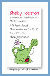 H2-Grow! calling cards, personalized