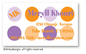 Purple popsicle calling cards, personalized
