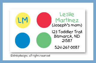 Twister dots calling cards, personalized