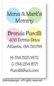 Baby dots calling cards, personalized