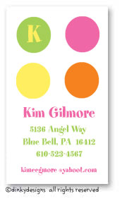 Summer dots calling cards, personalized