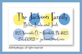 Nautical dots calling cards, personalized