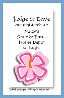 Tropicana calling cards, personalized
