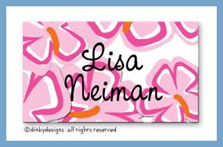 Tropicana calling cards on pre-printed cardstock, personalized